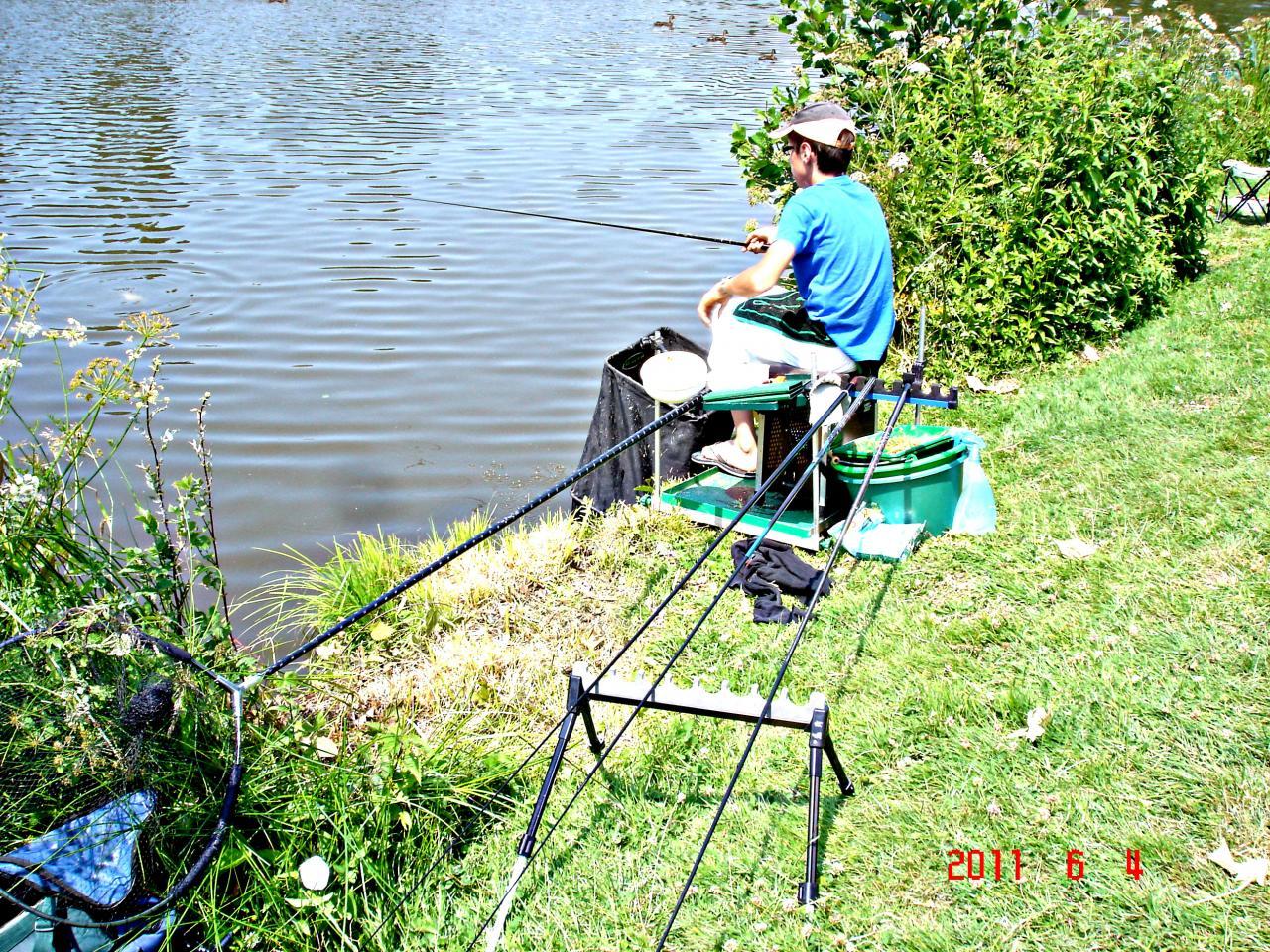 Un Jeune de L'Ecole de Pêche en Section Compétition