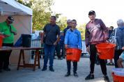 Jeunes de L'Atelier Pêche Arthur Lenez et Noah Landais