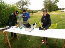 Montage de lignes à la journée pêche Décathlon