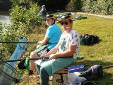 Les 2 jeunes de L'Ecole de Pêche Cyril & Romain
